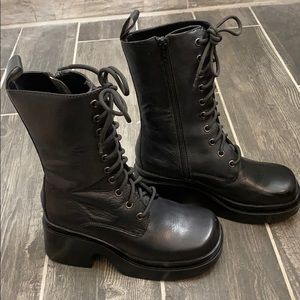 Steve Madden Leather Air Force Boots